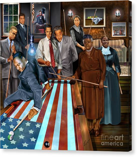 American Flag Canvas Print - Game Changers And Table Runners P2 by Reggie Duffie