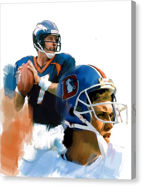 John Elway Canvas Print - Game Elway  John Elway by Iconic Images Art Gallery David Pucciarelli