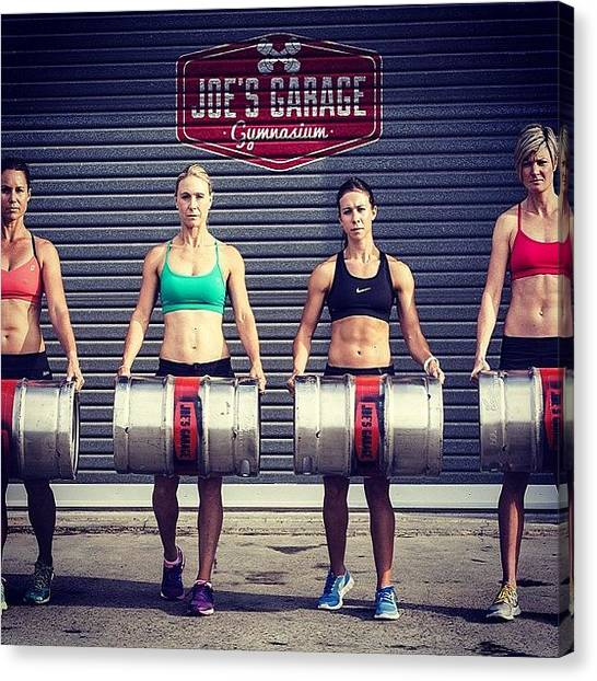 Keg Canvas Print - Game Face On. Love These Girls by Gisele Van Den Berg