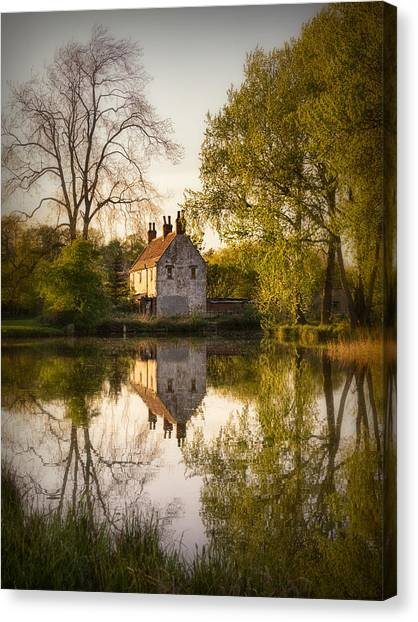 Sun Set Canvas Print - Game Keepers Cottage Cusworth by Ian Barber