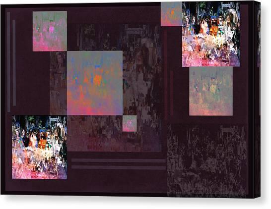 Frank Stella Canvas Print - Game Night by Linda Dunn