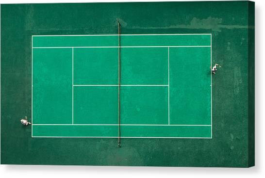 Aerial Canvas Print - Game! Set! Match! by Fegari