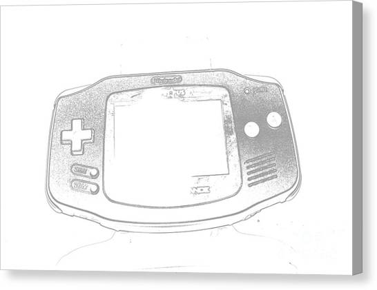 Gameboy Canvas Print - Gameboy by Robert Loe
