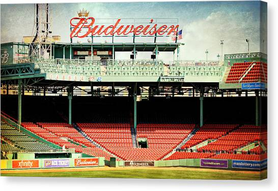Fenway Canvas Print - Gameday Ready At Fenway by Stephen Stookey