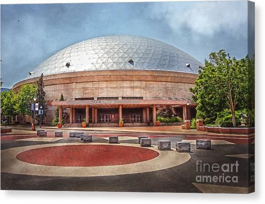 University Of Connecticut Canvas Print - Gampel Pavilion - Uconn Huskies by Steve Pfaffle