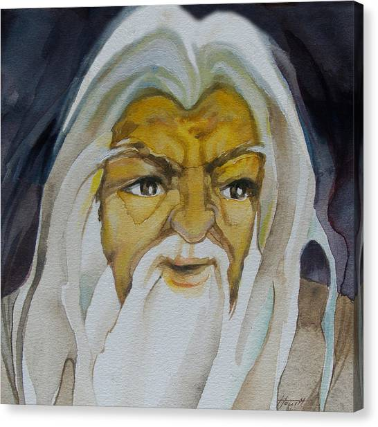 Gandalf Headstudy Canvas Print by Patricia Howitt