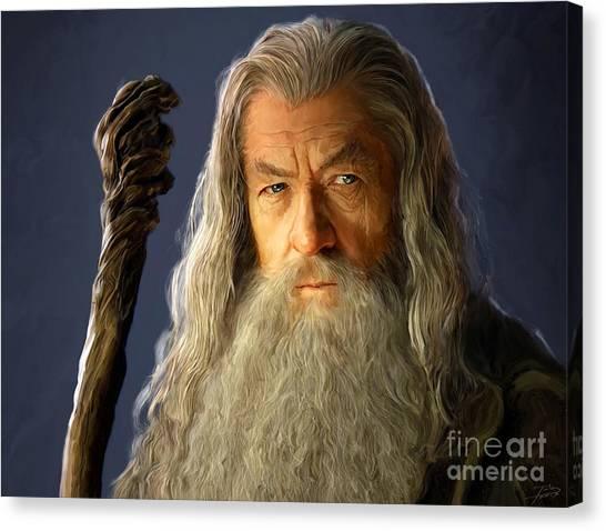 Throw Canvas Print - Gandalf by Paul Tagliamonte