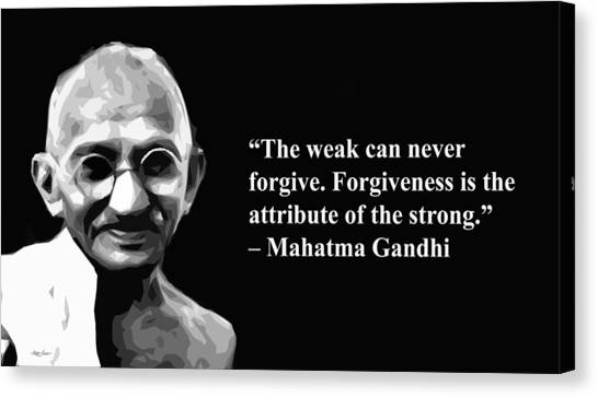 Gandhi On Forgiveness Painting By Artist Singh