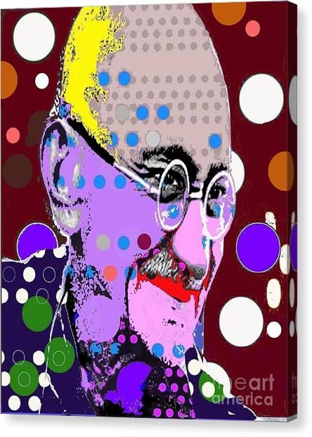 Gandhi Canvas Print by Ricky Sencion