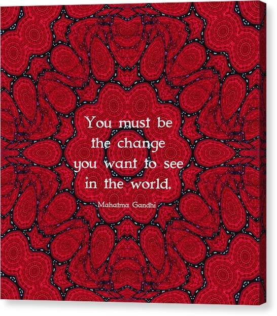 Gandhi Wisdom Quotation About Action Canvas Print by Quintus Wolf