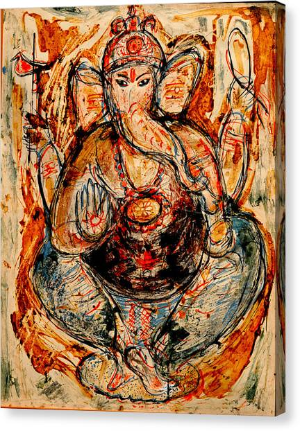 Ganesh- 7 Canvas Print