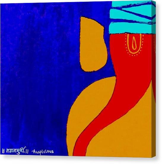 4 Ganesh Mangalmurti Canvas Print