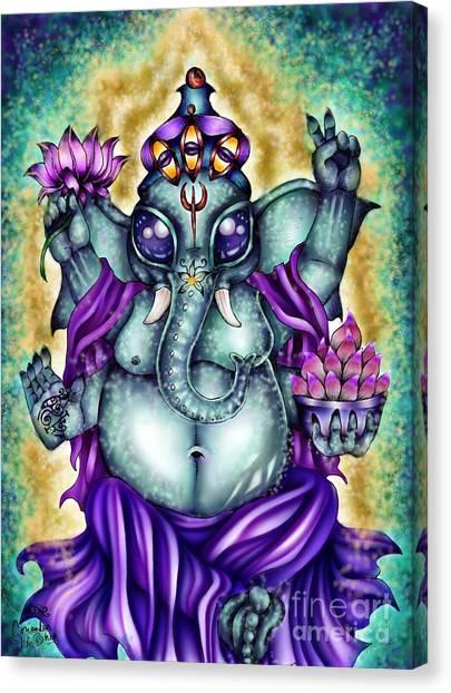 Ganesha Canvas Print by Coriander  Shea