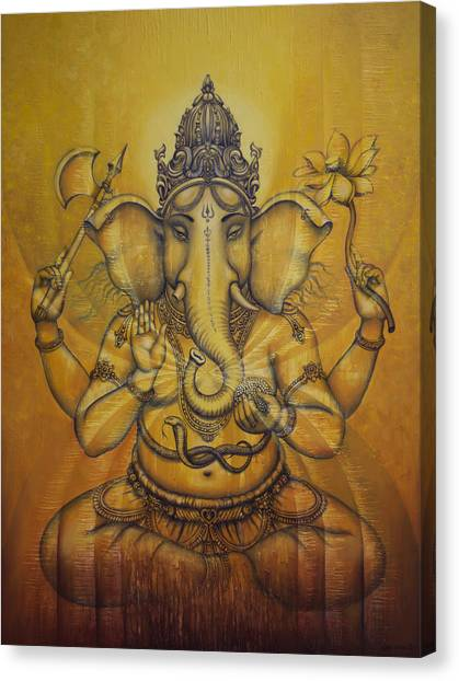 Nirvana Canvas Print - Ganesha Darshan by Vrindavan Das