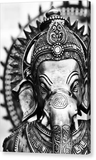 Ganesha Monochrome Canvas Print
