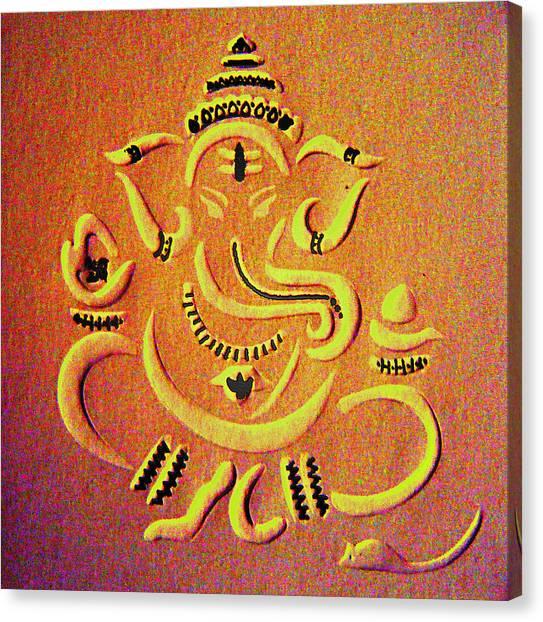 Ganesha Pietyz Canvas Print