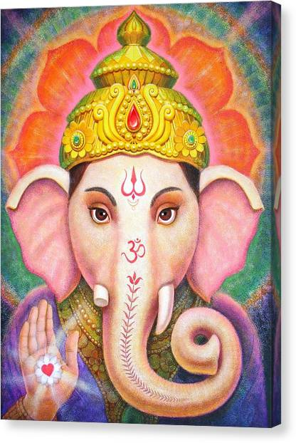 Ganesha's Blessing Canvas Print