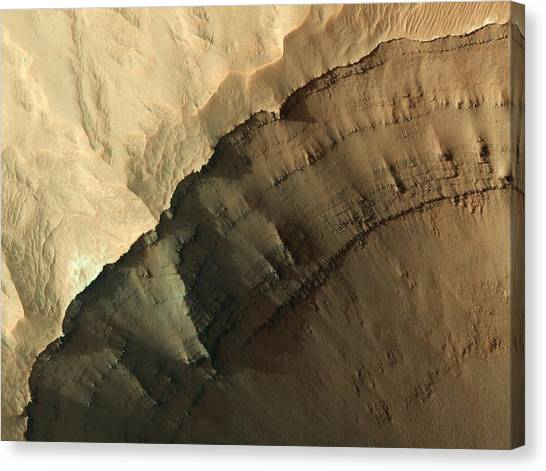 Ganges Canvas Print - Ganges Chasma Valley Wall by Nasa/jpl/university Of Arizona/science Photo Library