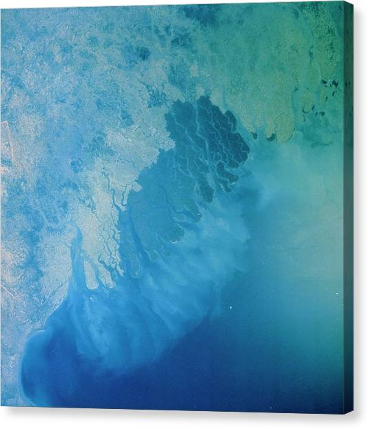 Ganges Canvas Print - Ganges Delta Region by Nasa/science Photo Library