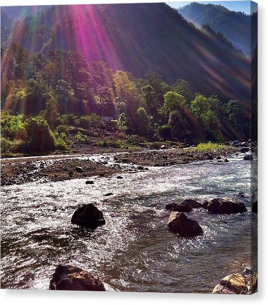 Ganges Canvas Print - #ganges #himalayas #india #travel by Matt Taylor