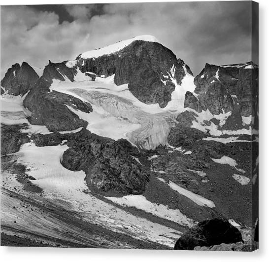 509427-bw-gannett Peak And Gooseneck Glacier, Wind Rivers Canvas Print