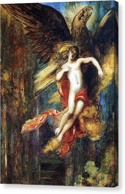 Abduction Canvas Print - Ganymede by Gustave Moreau
