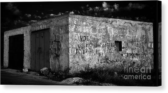 Canvas Print featuring the photograph Garage by Julian Cook
