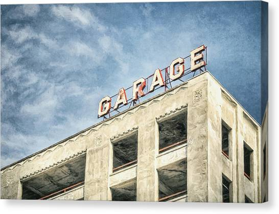 Stark Canvas Print - Garage by Scott Norris