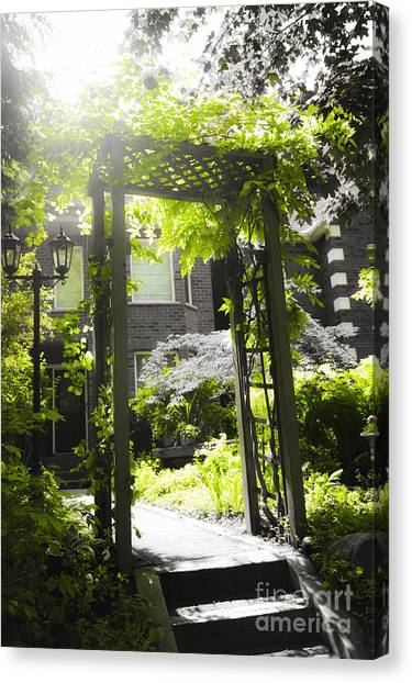 Arbor Canvas Print - Garden Arbor In Sunlight by Elena Elisseeva