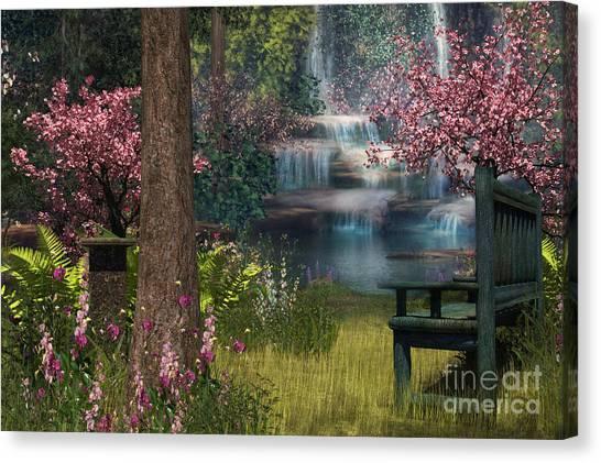 Garden Background Canvas Print