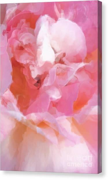 Dance Ballet Roses Canvas Print - Garden Ballet by Gwyn Newcombe