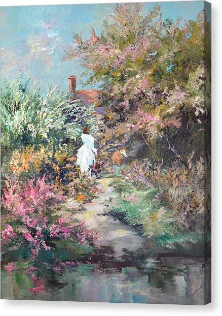 Garden By The Water Canvas Print by Steven Nevada