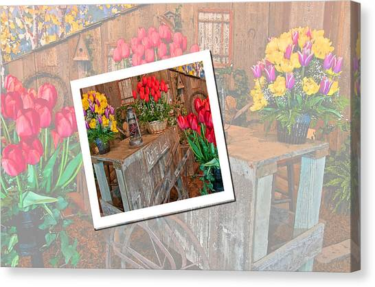 Garden Cart Out To Lunch Canvas Print