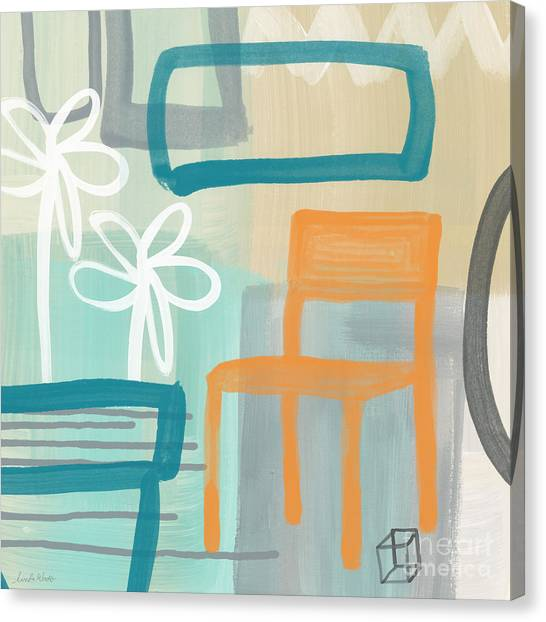 Chairs Canvas Print - Garden Chair by Linda Woods