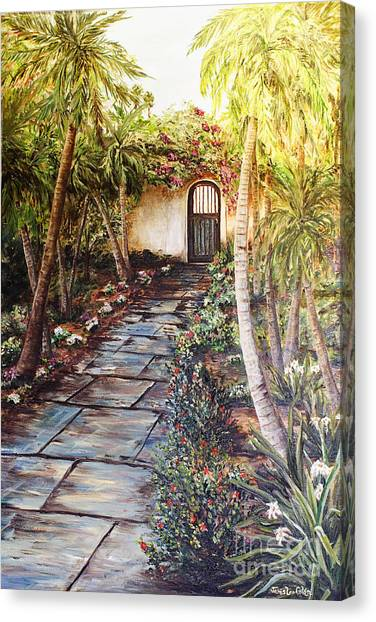 Garden Gate To Rosemary's Cottage Canvas Print