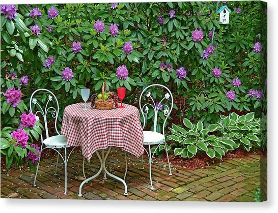 Garden Getaway Canvas Print By Maria Dryfhout