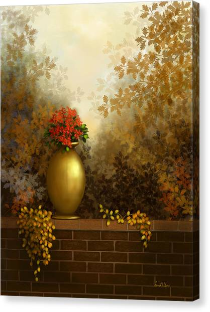Garden Golds Canvas Print