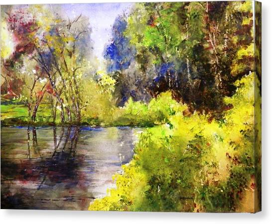 Garden Lake Canvas Print