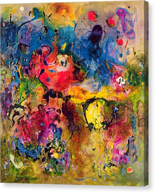 Futurism Canvas Print - Garden Of Heavenly And Earthly Delights by Jane Deakin