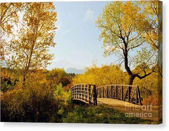 Garden Of The Gods Bridge Canvas Print