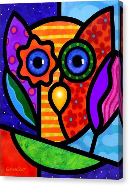Garden Owl Canvas Print