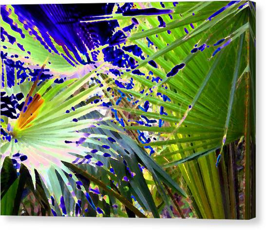 Garden Palms Canvas Print