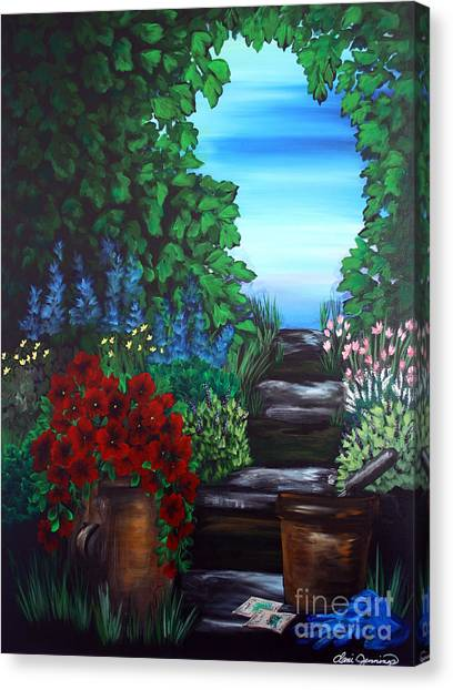 Garden Path Canvas Print