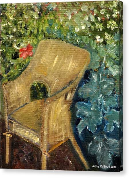 Garden Reading Chair Canvas Print