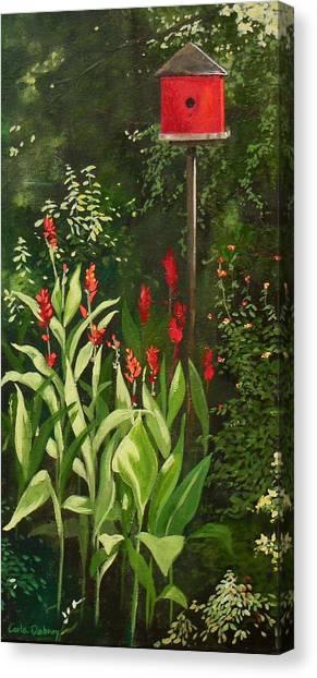Garden Reds Canvas Print by Carla Dabney