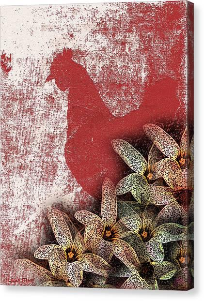 Garden Rooster Canvas Print