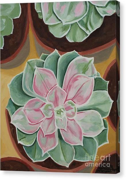 Garden Rossette Canvas Print