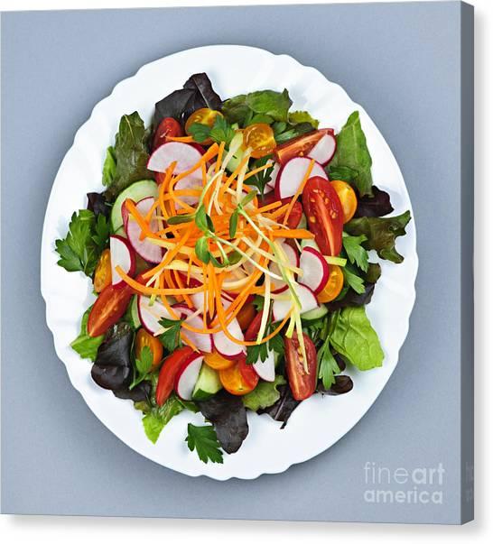 Lettuce Canvas Print - Garden Salad by Elena Elisseeva