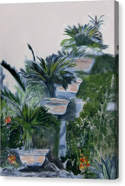 Garden Scene 2 Canvas Print