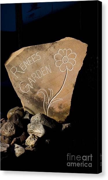 Garden Signs Canvas Print by The Stone Age